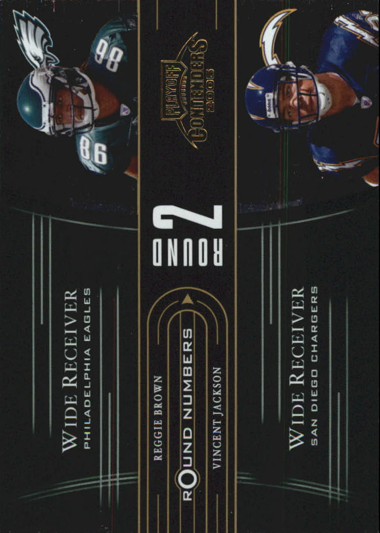 2005 Playoff Contenders Round Numbers Green #RN8 Reggie Brown/Vincent Jackson