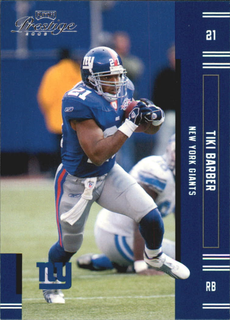 2005 Playoff Prestige #92 Tiki Barber