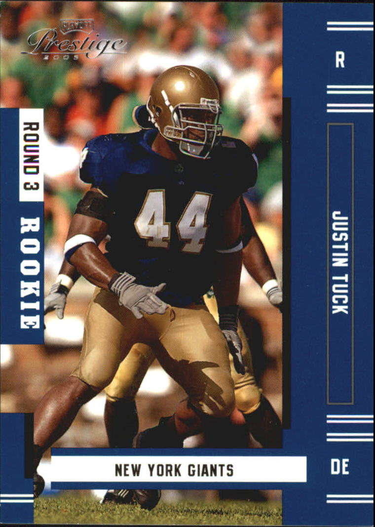 2005 Playoff Prestige #220 Justin Tuck RC