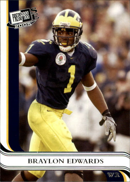 2005 Press Pass SE #23 Braylon Edwards