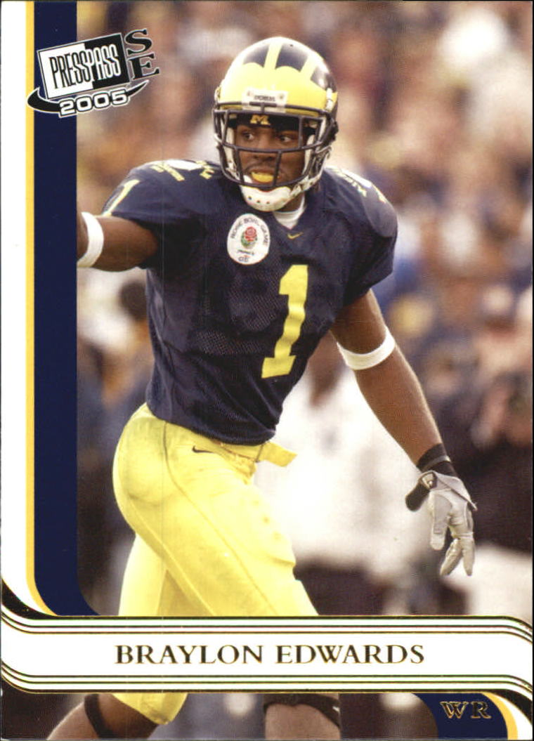 2005 Press Pass SE Gold #23 Braylon Edwards