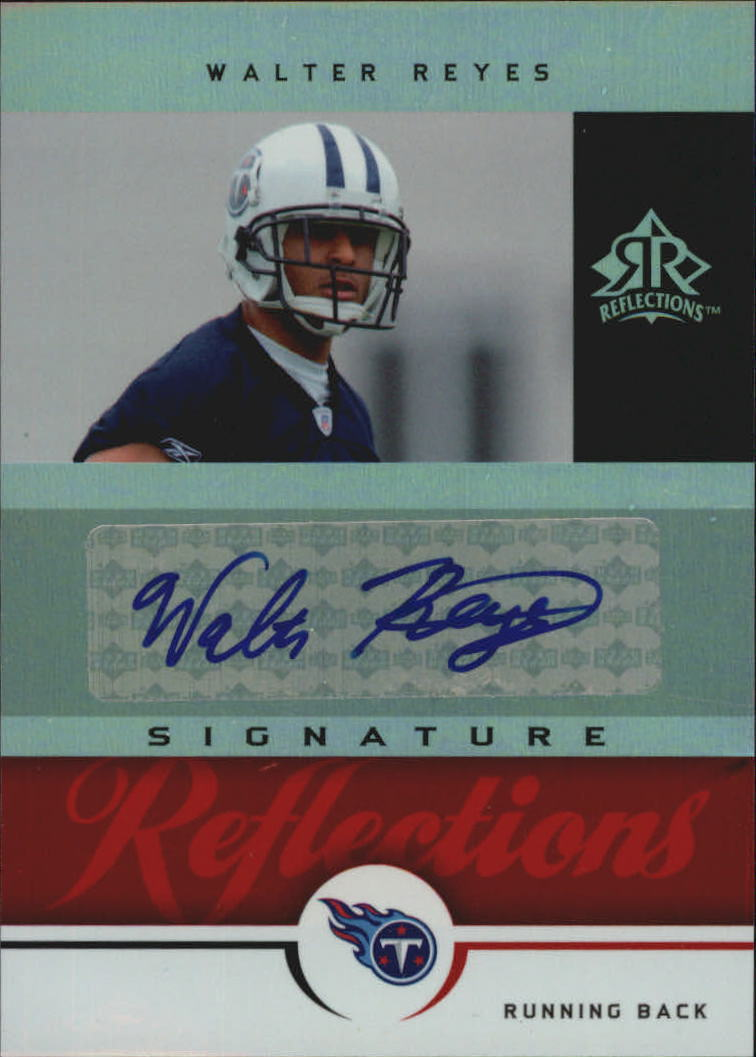 2005 Reflections Signature Reflections Red #SRWR Walter Reyes