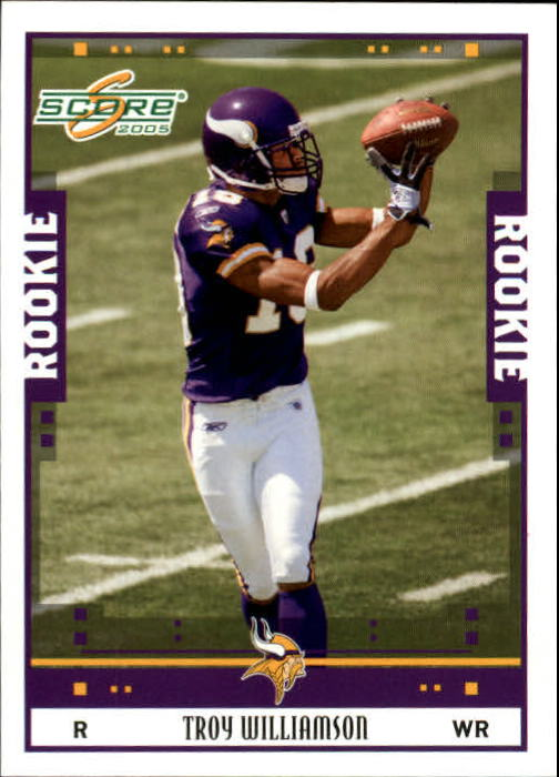 2005 Score #337 Troy Williamson RC front image