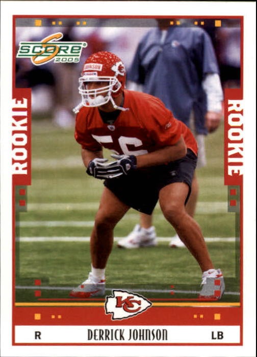 2005 Score #344 Derrick Johnson RC