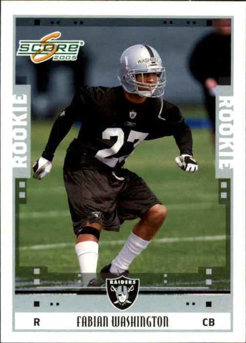 2005 Score #351 Fabian Washington RC