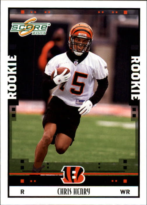 2005 Score #373 Chris Henry RC