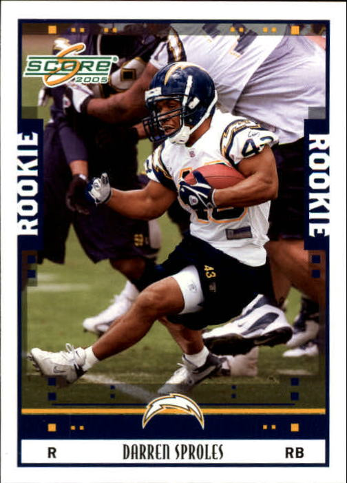 2005 Score #384 Darren Sproles RC