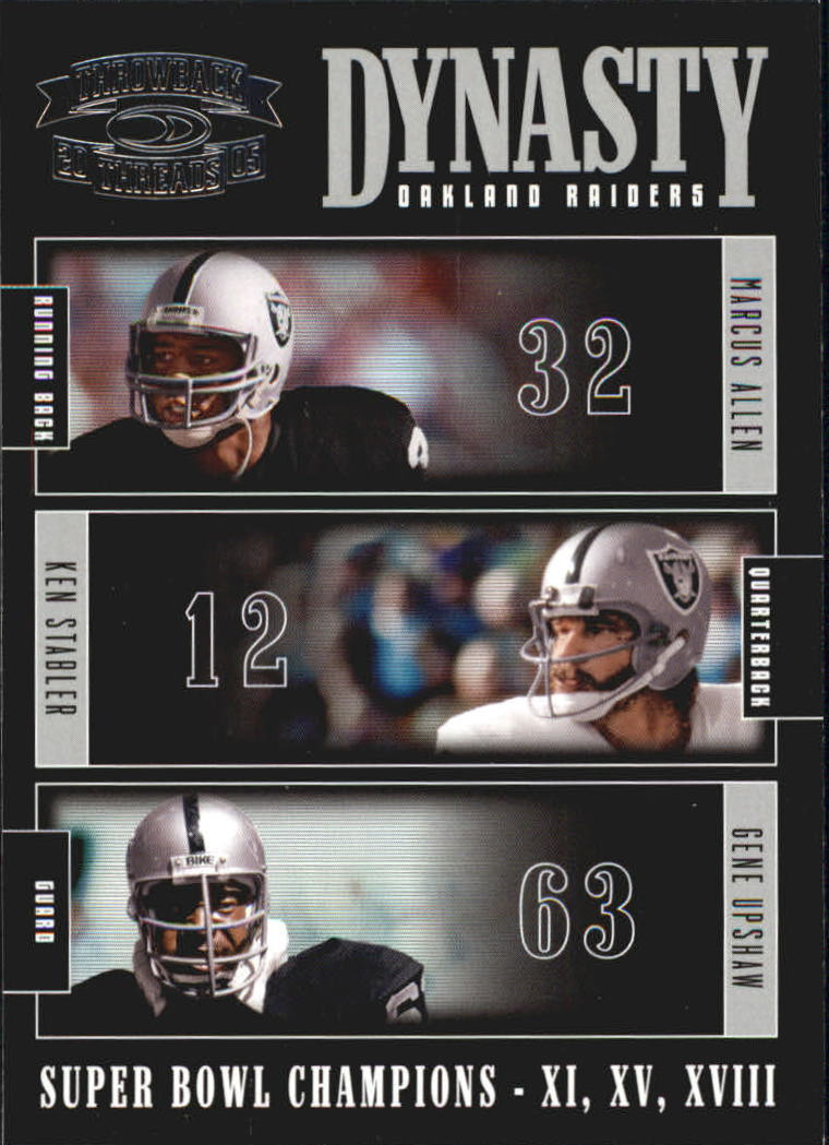 2005 Throwback Threads Dynasty #5 Marcus Allen/Ken Stabler/Gene Upshaw