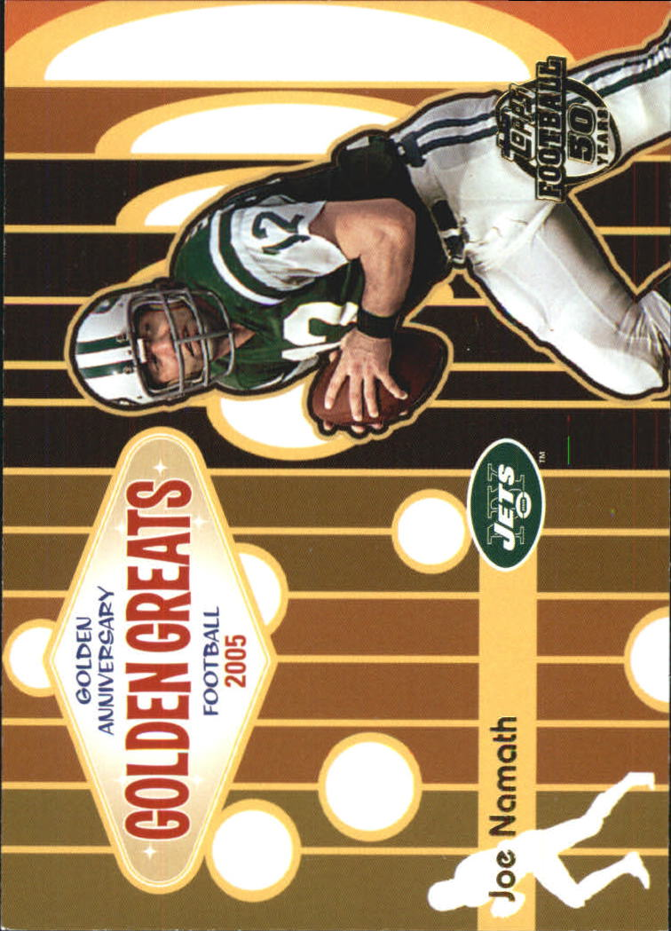2005 Topps Golden Anniversary Golden Greats #GA2 Joe Namath