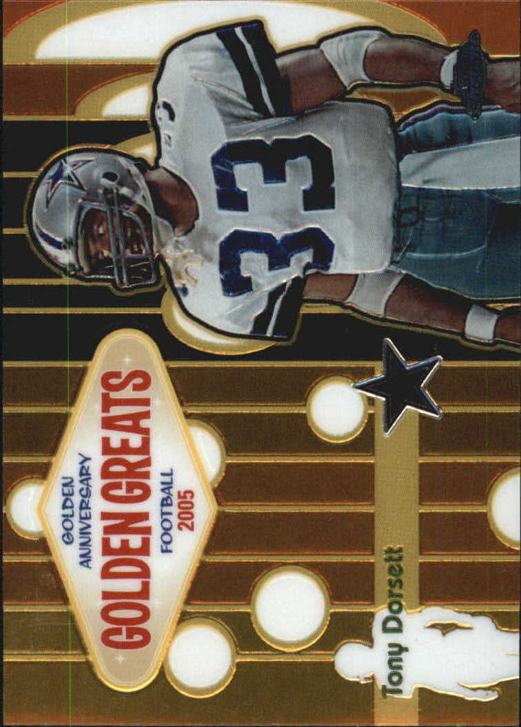 2005 Topps Chrome Golden Anniversary Golden Greats #GA9 Tony Dorsett