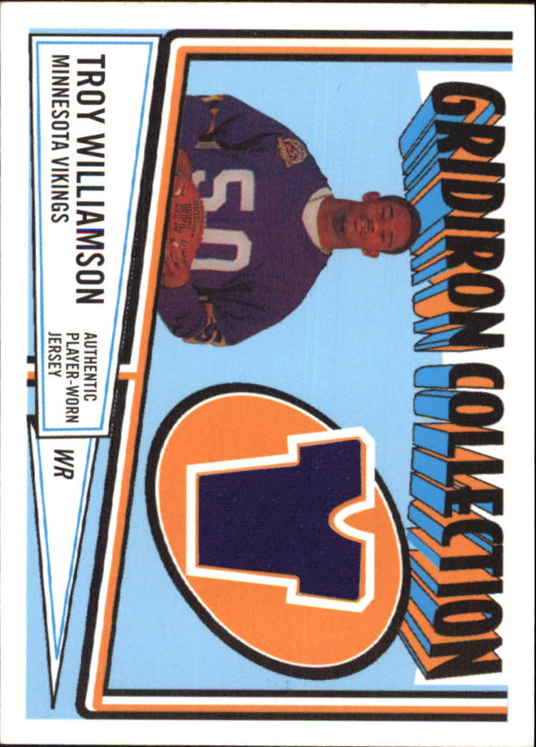 2005 Topps Heritage Gridiron Collection Relics #GCRTW Troy Williamson B