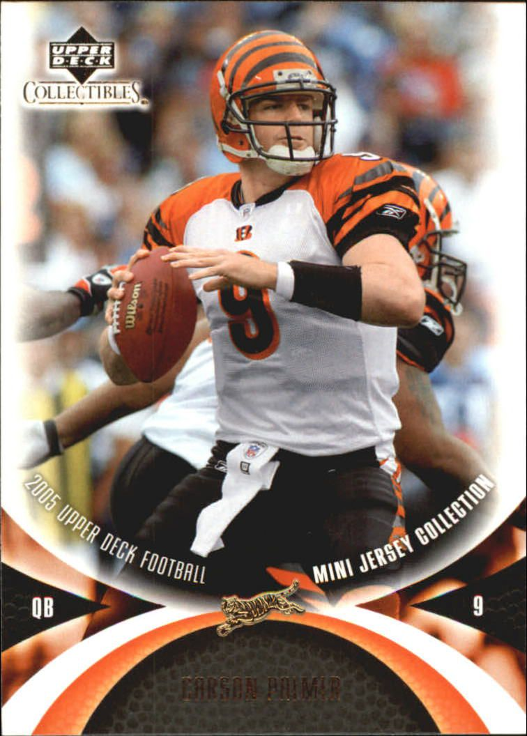 2005 UD Mini Jersey Collection #9 Carson Palmer