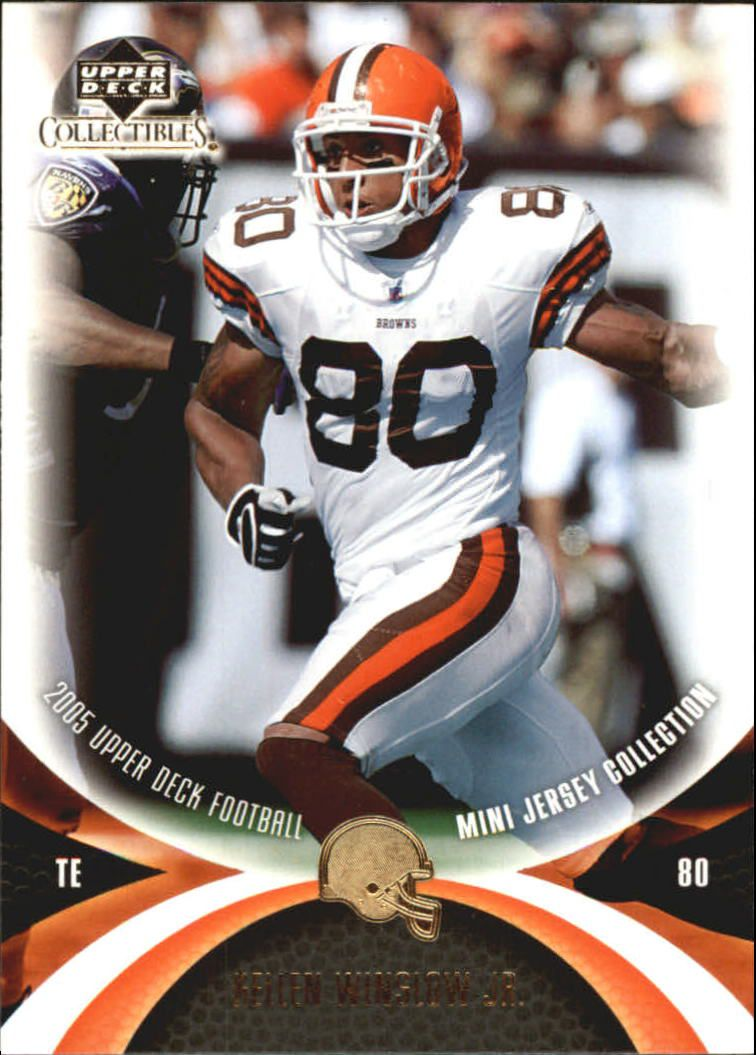 2005 UD Mini Jersey Collection #12 Kellen Winslow