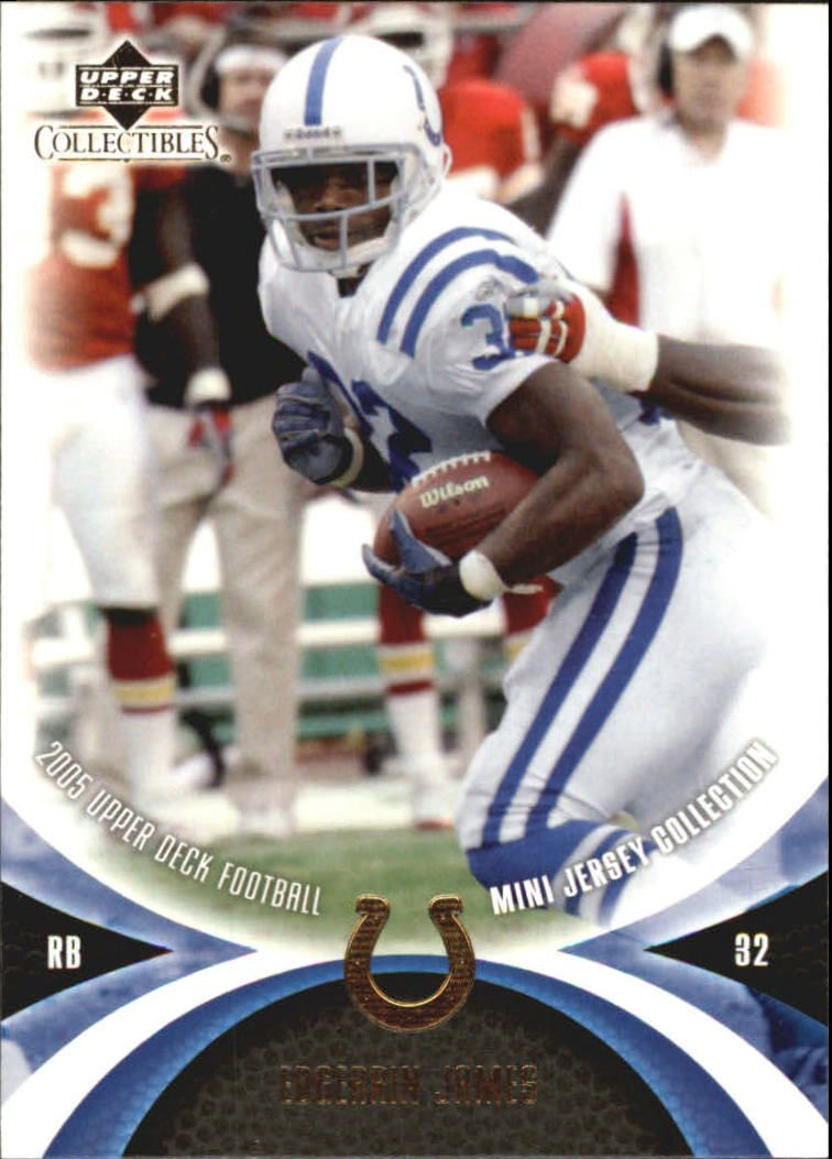 2005 UD Mini Jersey Collection #25 Edgerrin James