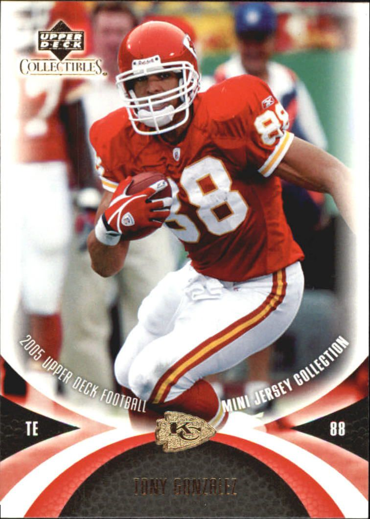 2005 UD Mini Jersey Collection #31 Tony Gonzalez