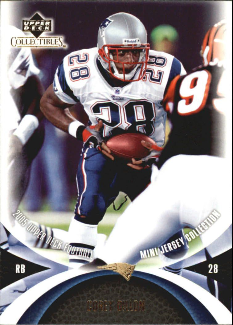 2005 UD Mini Jersey Collection #37 Corey Dillon