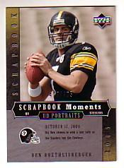 2005 UD Portraits Scrapbook Moments #12 Ben Roethlisberger
