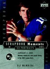 2005 UD Portraits Scrapbook Moments #22 Eli Manning