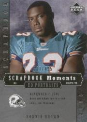 2005 UD Portraits Scrapbook Moments #43 Ronnie Brown