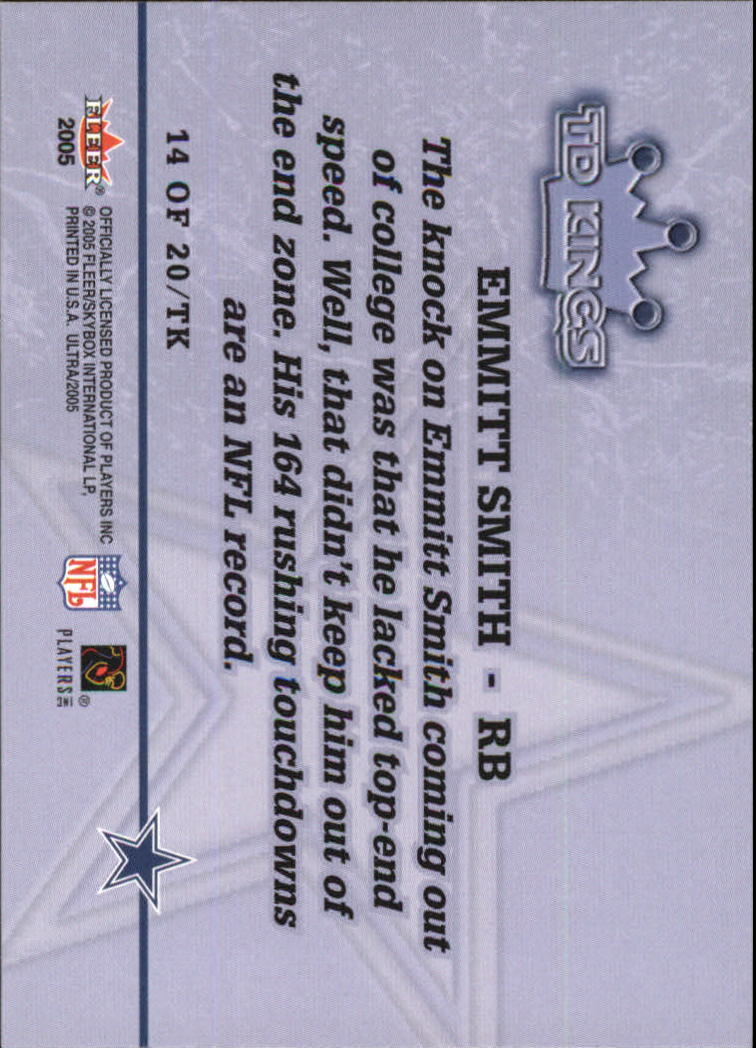 2005 Ultra TD Kings #14 Emmitt Smith back image