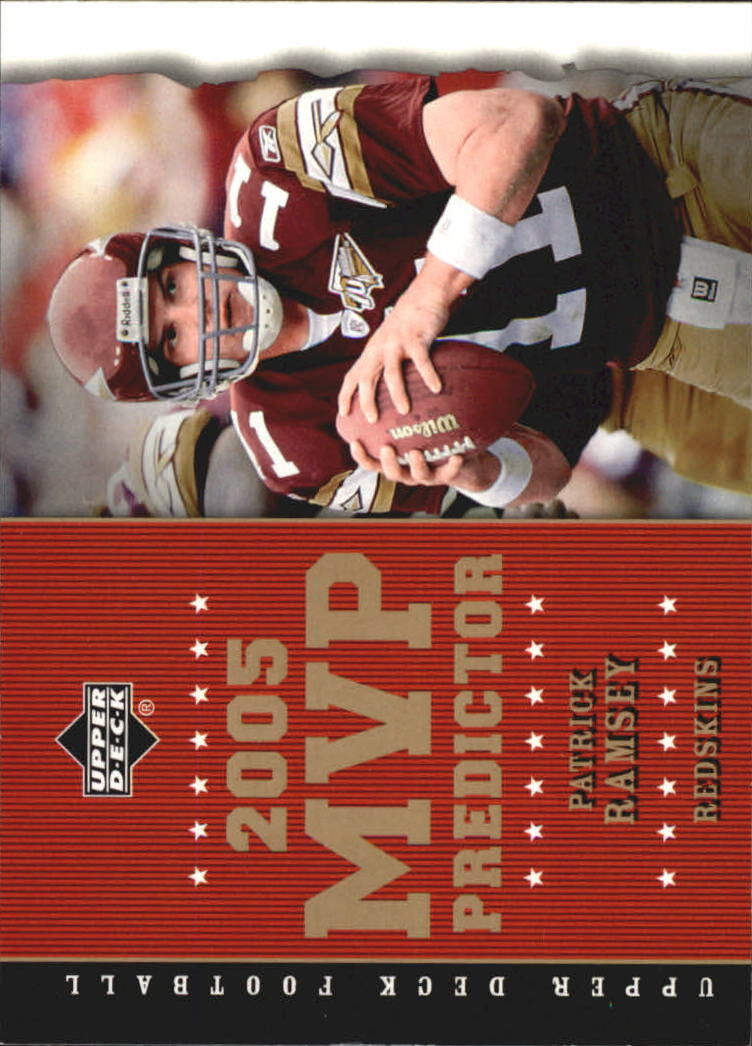 2005 Upper Deck MVP Predictors #MVP74 Patrick Ramsey