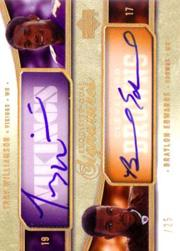 2005 Exquisite Collection Signature Duals #WE Troy Williamson/Braylon Edwards