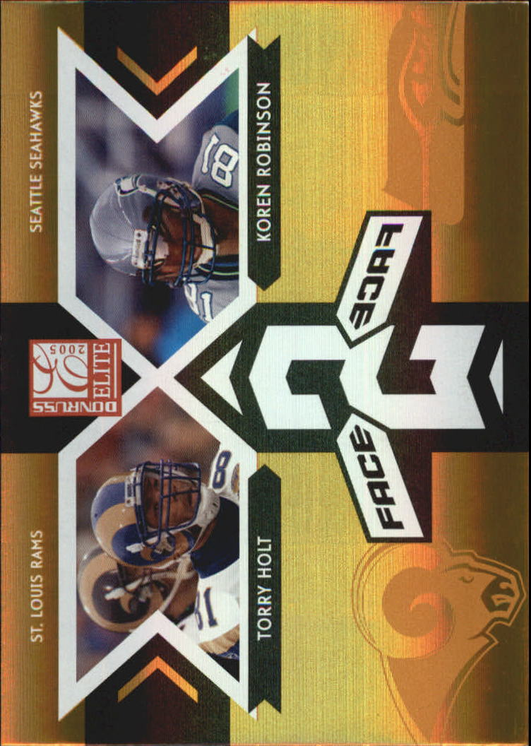 2005 Donruss Elite Face 2 Face Gold #CB13 Torry Holt/Koren Robinson