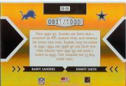 2005 Donruss Elite Face 2 Face Gold #CB20 Barry Sanders/Emmitt Smith back image