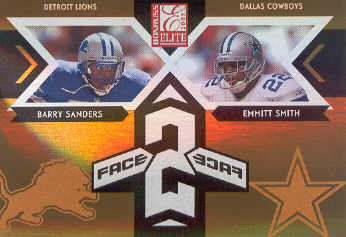 2005 Donruss Elite Face 2 Face Gold #CB20 Barry Sanders/Emmitt Smith front image