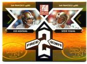 2005 Donruss Elite Face 2 Face Gold #CB25 Joe Montana/Steve Young