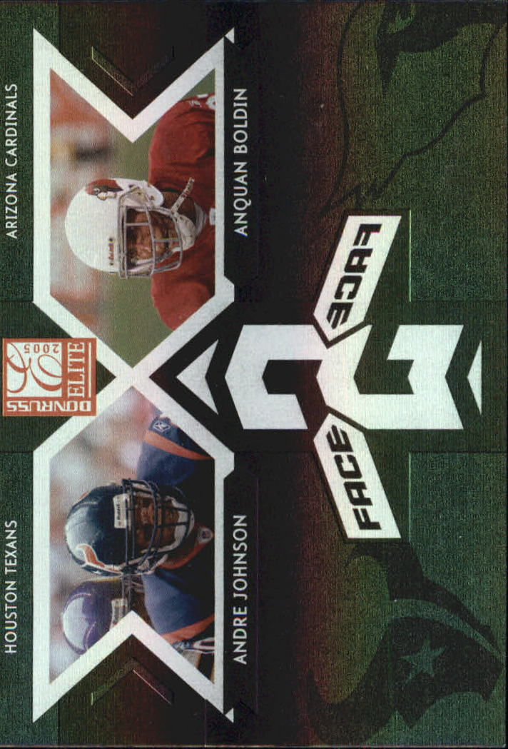 2005 Donruss Elite Face 2 Face Black #CB1 Andre Johnson/Anquan Boldin
