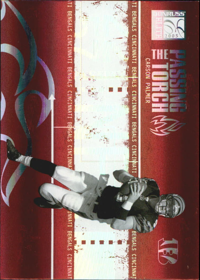 2005 Donruss Elite Passing the Torch Red #PT12 Carson Palmer