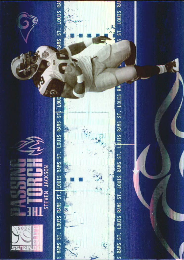 2005 Donruss Elite Passing the Torch Blue #PT2 Steven Jackson