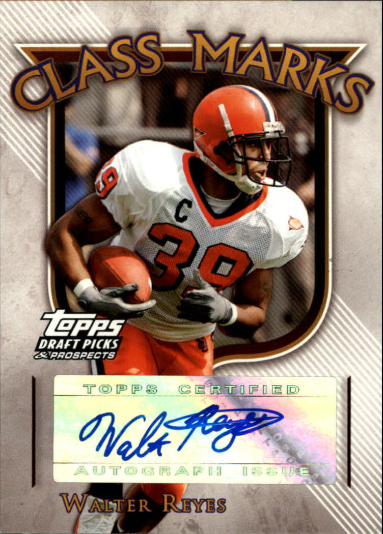 2005 Topps Draft Picks and Prospects Class Marks Autographs #CMWR Walter Reyes F