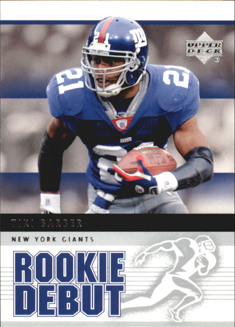 2005 Upper Deck Rookie Debut #65 Tiki Barber