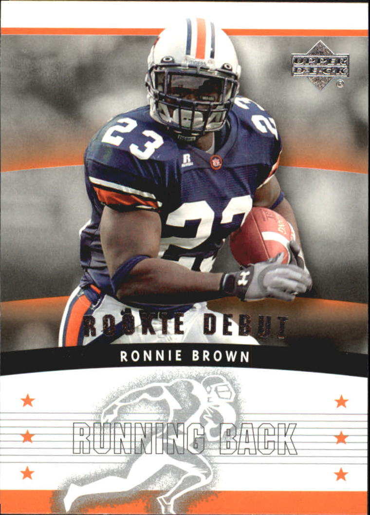 2005 Upper Deck Rookie Debut #109 Ronnie Brown RC