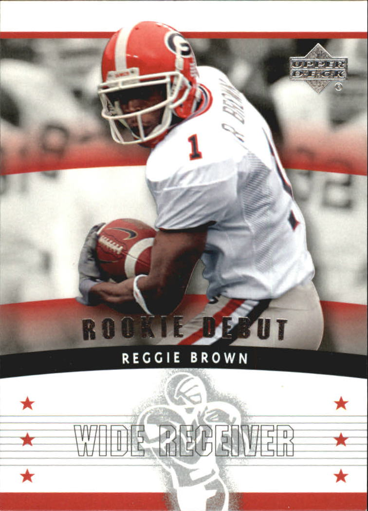 2005 Upper Deck Rookie Debut #185 Reggie Brown RC