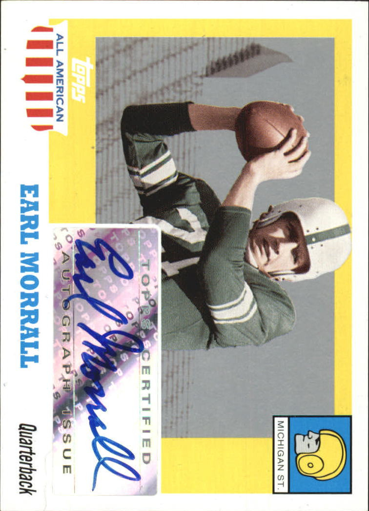 2005 Topps All American Autographs #AEM Earl Morrall K