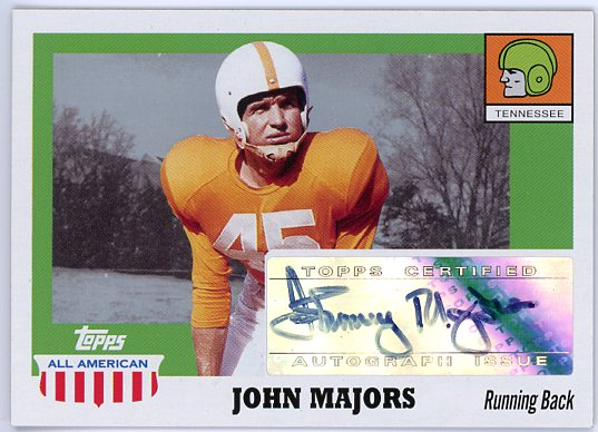 2005 Topps All American Autographs #AJMA Johnny Majors J