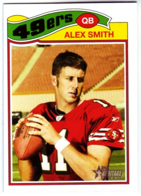 2005 Topps Heritage #55A Alex Smith QB RC