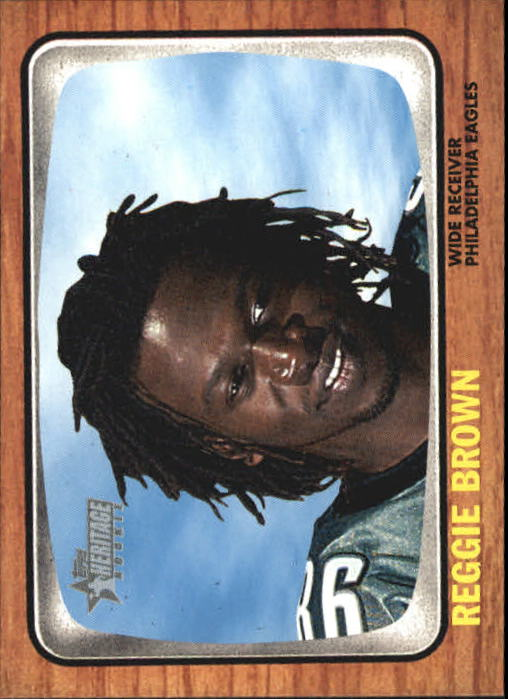 2005 Topps Heritage #76A Reggie Brown RC