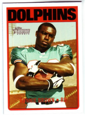 2005 Topps Heritage #77A Ronnie Brown RC