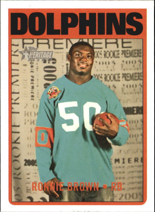 2005 Topps Heritage #77B Ronnie Brown TBJ SP