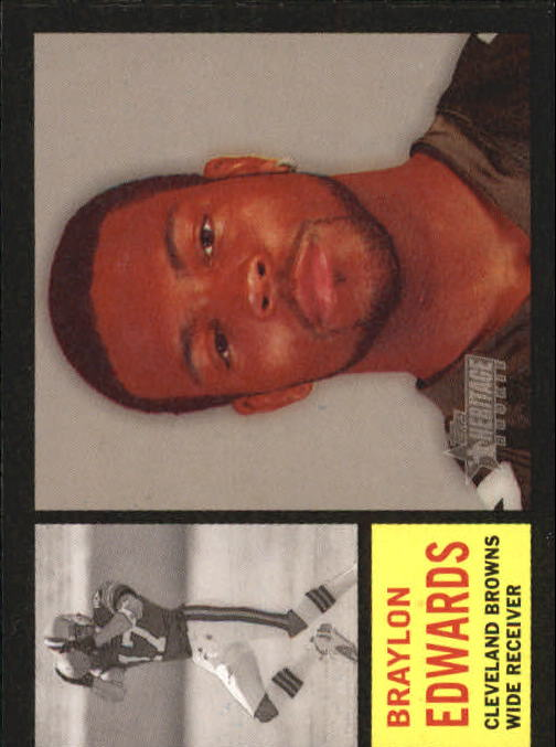 2005 Topps Heritage #347A Braylon Edwards SP RC