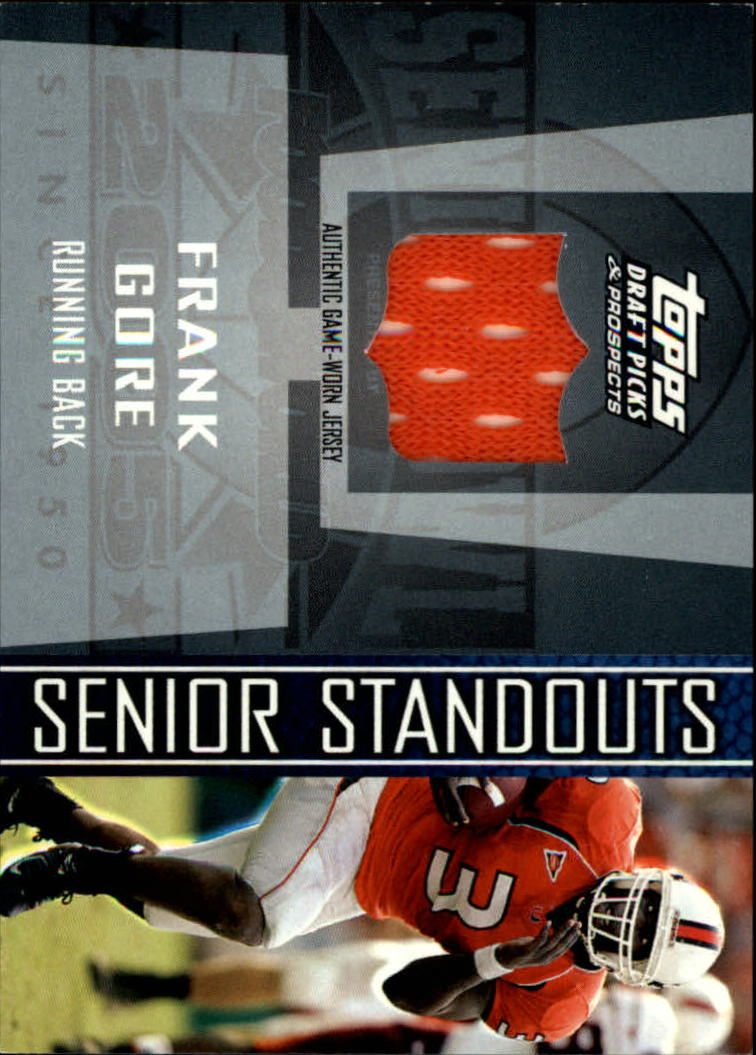 2005 Topps Draft Picks and Prospects Senior Standout Jersey #SSFGO Frank Gore M