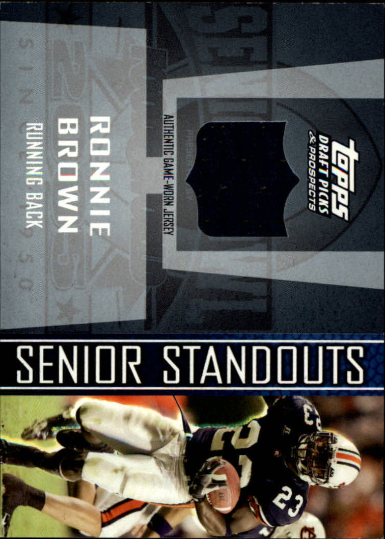 2005 Topps Draft Picks and Prospects Senior Standout Jersey #SSRBR Ronnie Brown I