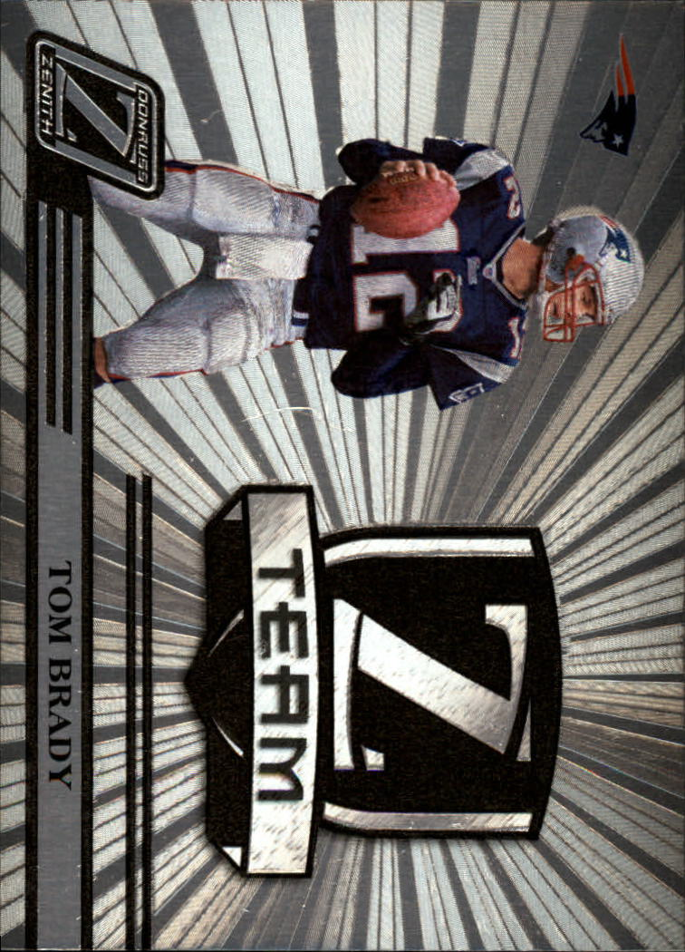 2005 Zenith Z-Team Silver #ZT17 Tom Brady