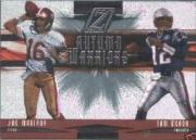 2005 Zenith Autumn Warriors Silver #AW10 Joe Montana/Tom Brady