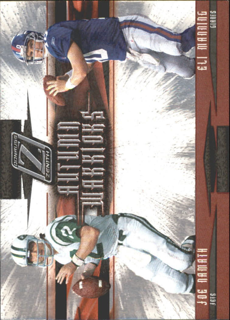 2005 Zenith Autumn Warriors Silver #AW11 Joe Namath/Eli Manning