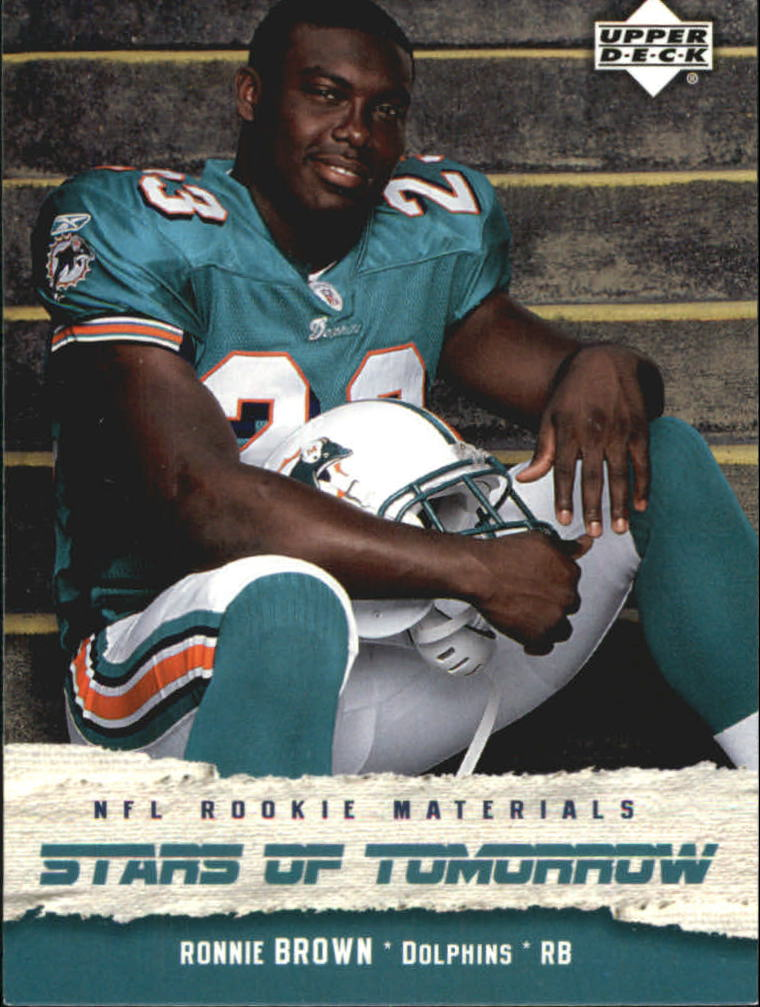 2005 Upper Deck Rookie Materials Stars of Tomorrow #ST6 Ronnie Brown